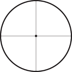 Target reticle with dot.